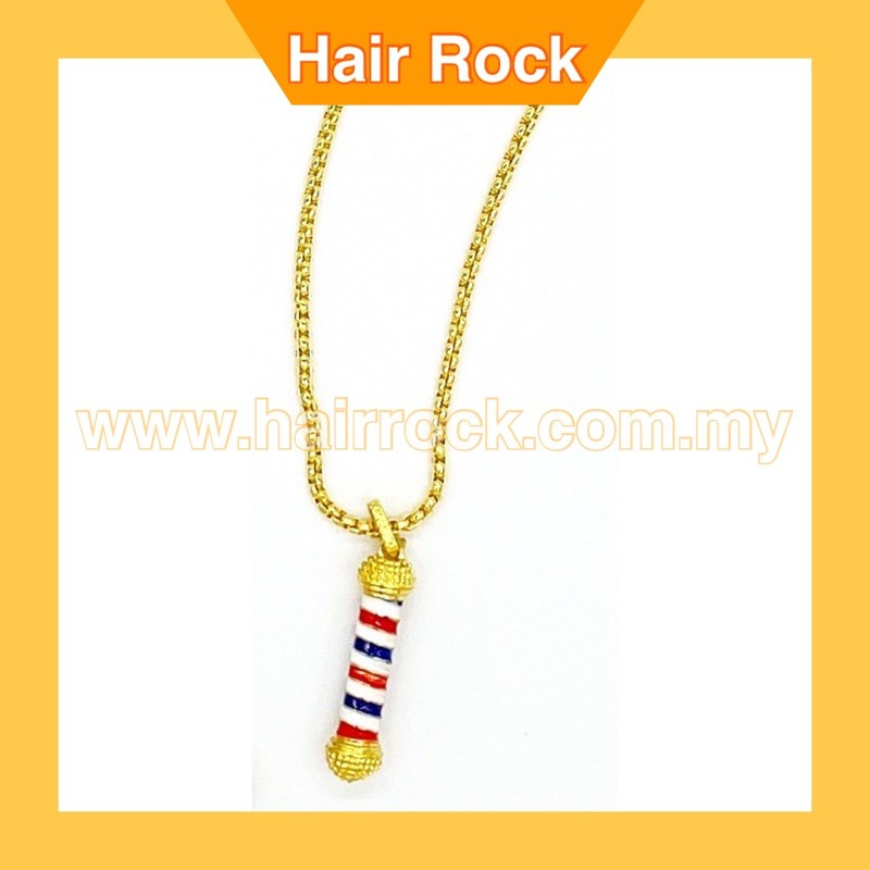 Barber Pole Light Up Pendant Chain Necklace Jewelry Gift Set