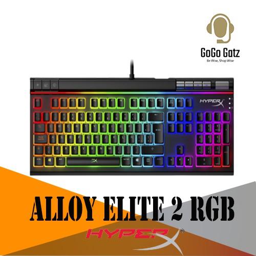 {HKBE2X-1X-US/G} HyperX Alloy Elite 2 RGB Mechanical Switches Gaming Keyboard Alloy Elite II