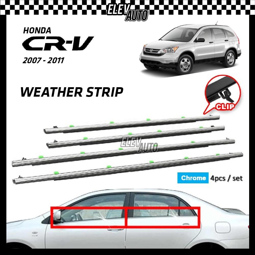 Honda CR-V CRV 2007-2011 Weather Strip Weatherstrip Window Moulding Belt 4pcs (Chrome)