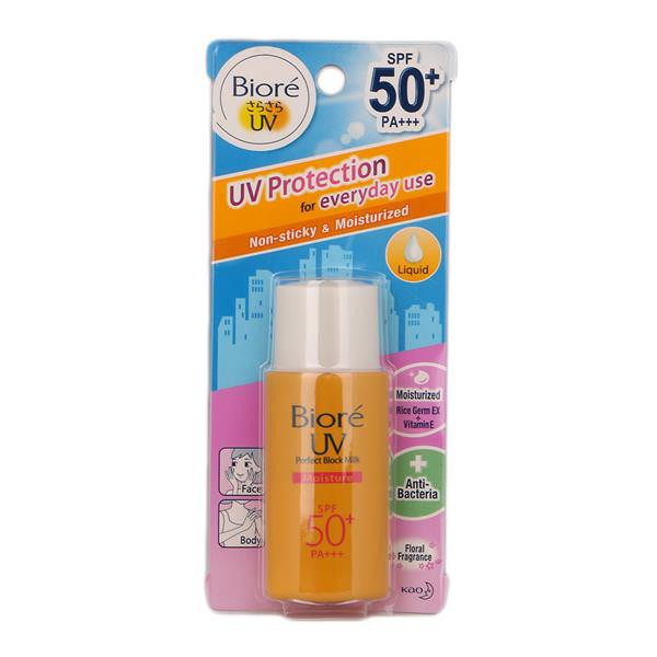 Biore UV Perfect Protect Milk Non-Sticky Sunblock SPF50+ 25ml