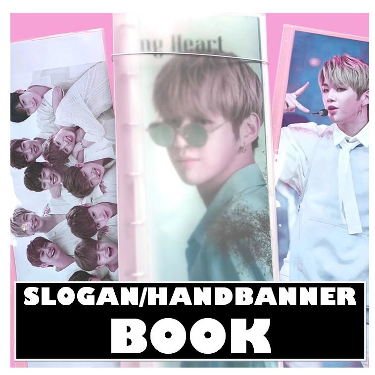 KPOP CHEERING SLOGAN HAND BANNER BOOK