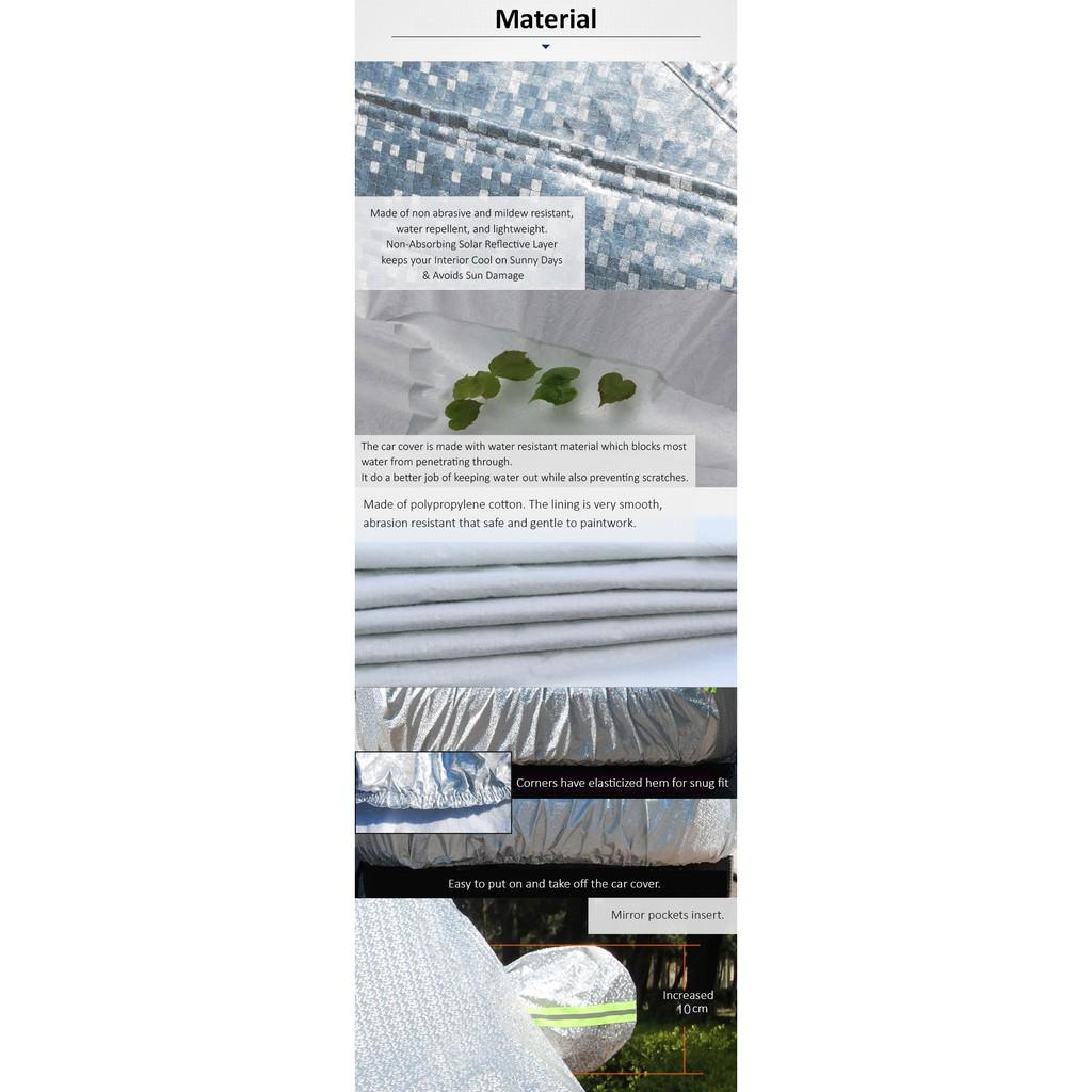 Car Cover Water Resistant Rain Sunlight Resistant for Proton Saga/Wira/Waja Toyota Vios (Size 3M) (CCHS)