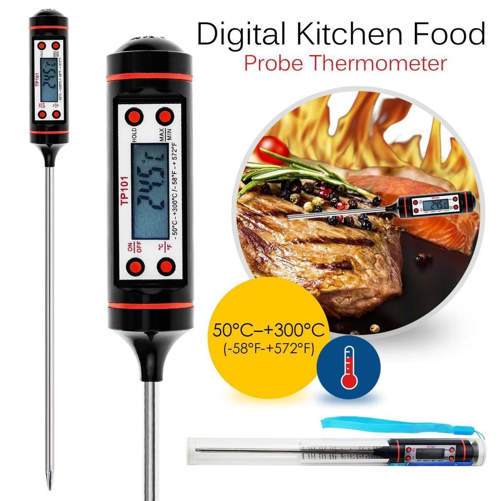 DIGITAL PROBE THERMOMETER FOOD TEMPERATURE SENSOR FOR COOKING BAKING JAM MEAT