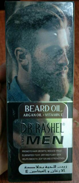 DR RASHEL BEARD OIL Hair Growth with ARGAN & AVACADO,JOJOBA