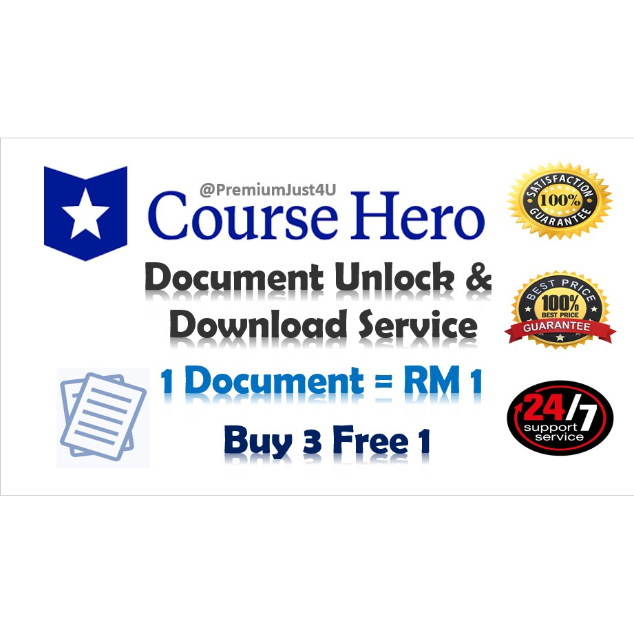 Course Hero Document Unlock And Download Service Shopee Malaysia