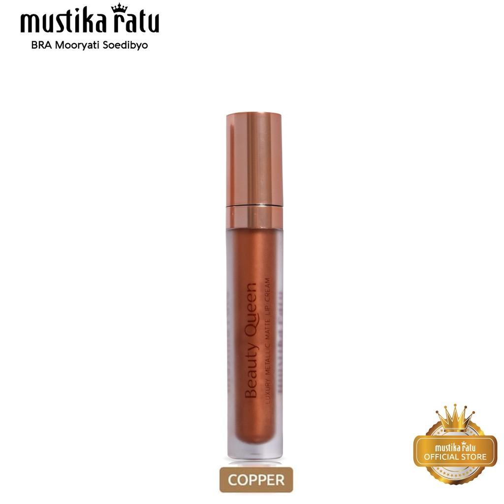 Mustika Ratu Beauty Queen Luxury Metallic Matte Lip Cream COPPER [Mustika Ratu]