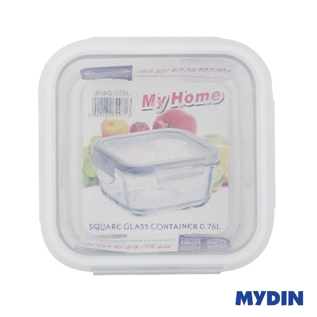 My Home Glass Container - Square (0.76L)