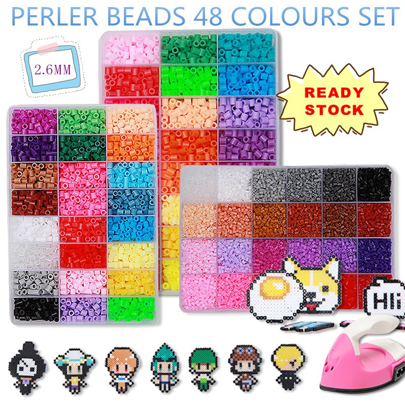 34000pcs Perler Beads 2 6mm 48 colours Set *(Iron Is Not Included)