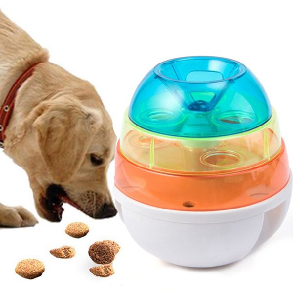 Dog Pet Automatic Tumblers Pet Toys Food Feeder Gnawing Toys