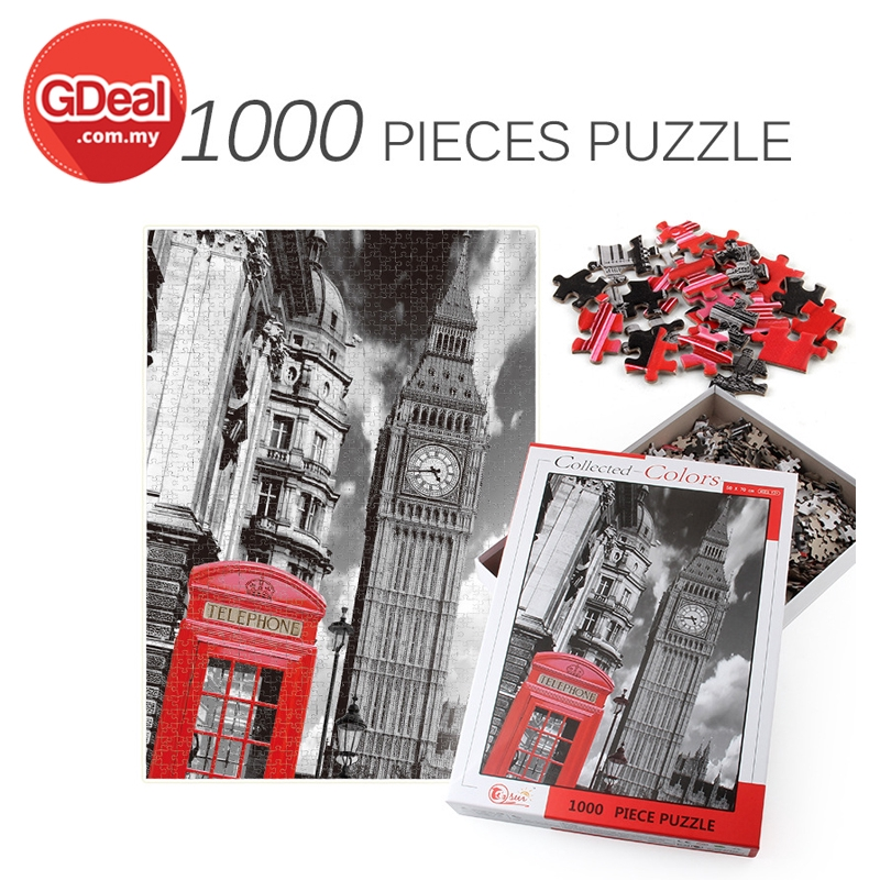 GDeal 1000 Pieces Scenary Puzzle For Kids And Adult Game Toys Mainan Teka Teki تكا تكي (N1728)