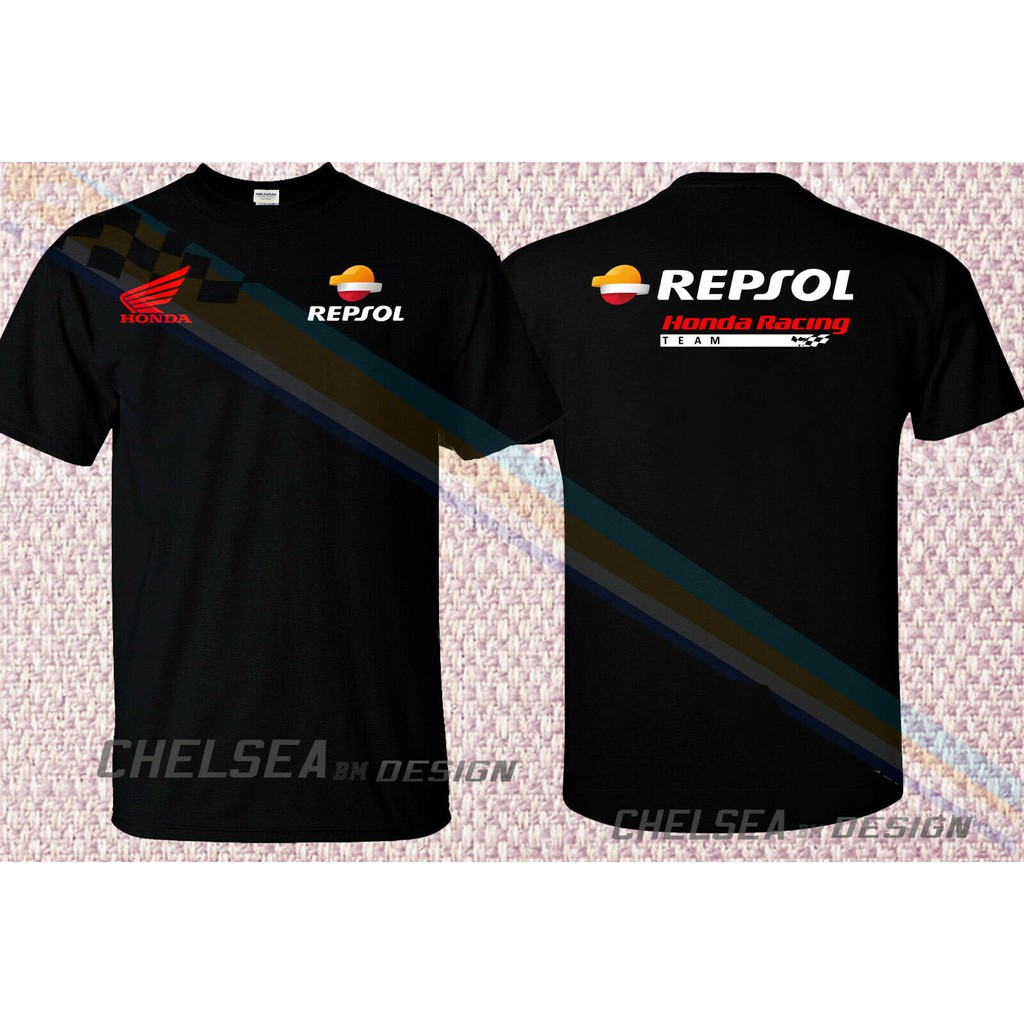 2019 Repsol Honda Racing MotoGP Mens T-Shirt 100/% Cotton Tee Blue Sizes S-XXL