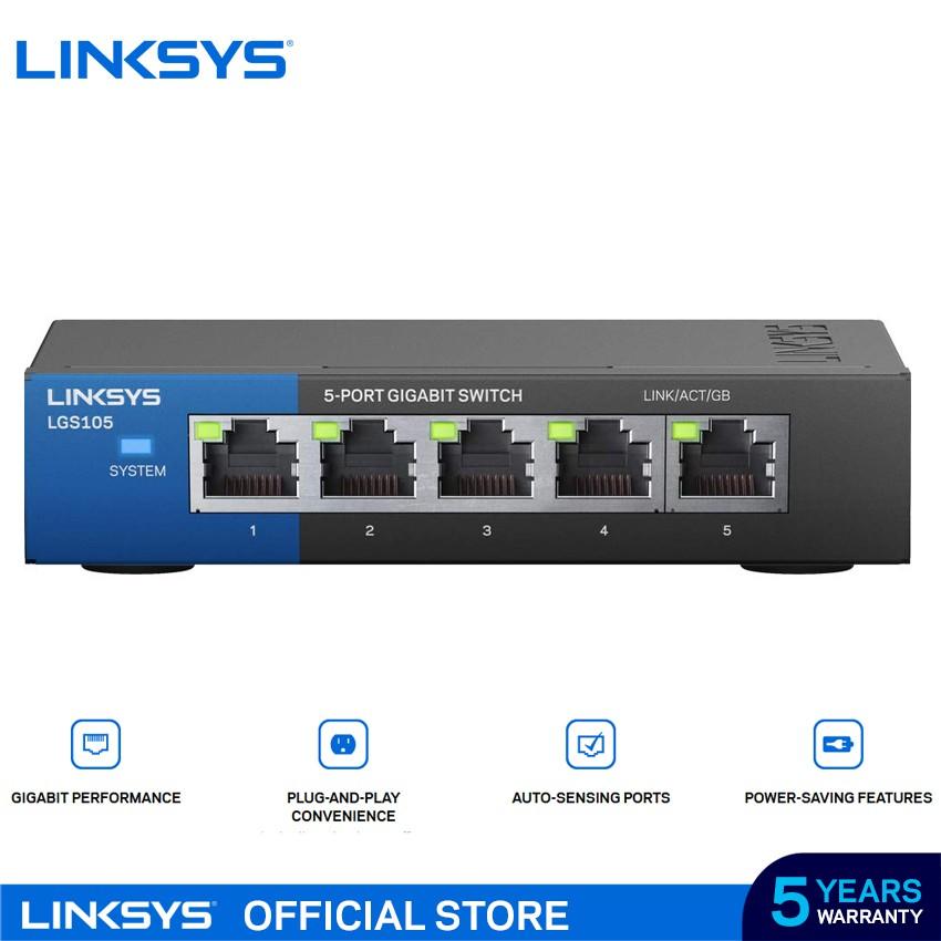 Linksys LGS105 5-Port Business Desktop Gigabit Switch - LGS105-AP
