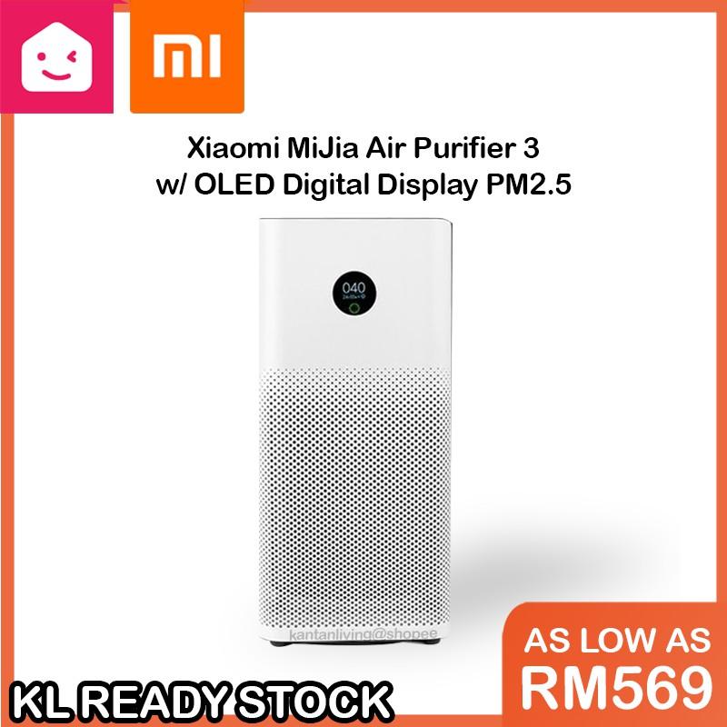 Xiaomi Mi Home Smart Home Air Purifier 3 OLED Digital Display PM2.5 | KANTAN