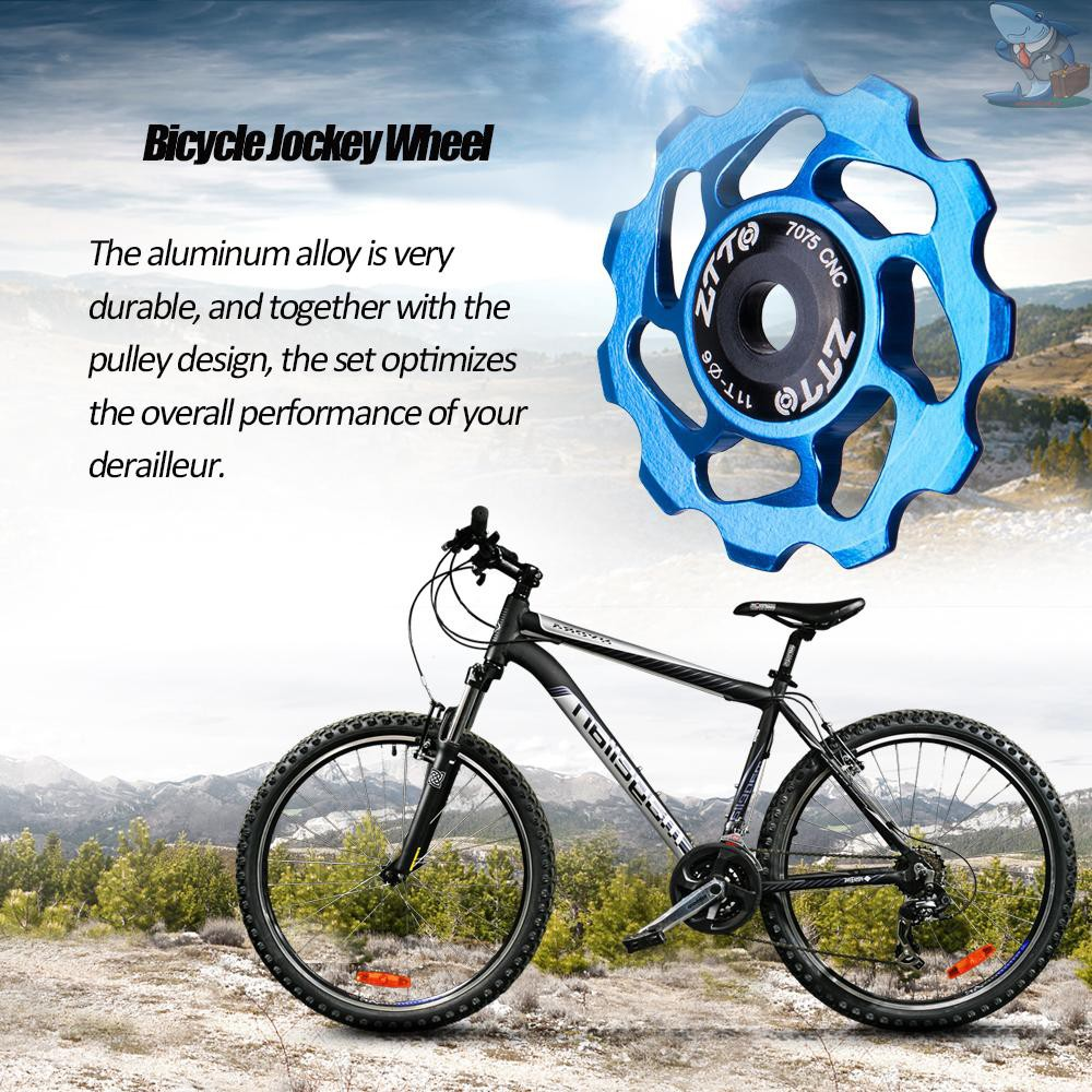 11T Bike Cycle Aluminum Alloy Bearings Jockey Wheel Rear Derailleur Pulleys Chic