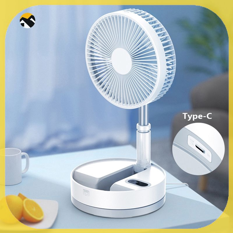 Color : Green 3 in 1 USB Fan with Charging Treasure and Night Light Portable Mini Electric Rechargeable Handheld Fan Folding Easy and Quiet