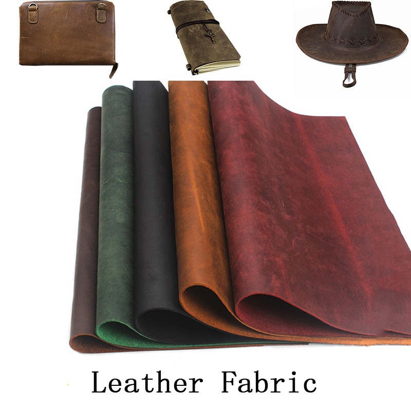 Genuine Real Leather Cowhide Fabric Sew Crafts Cuts Scrap Wallet Notebook Making