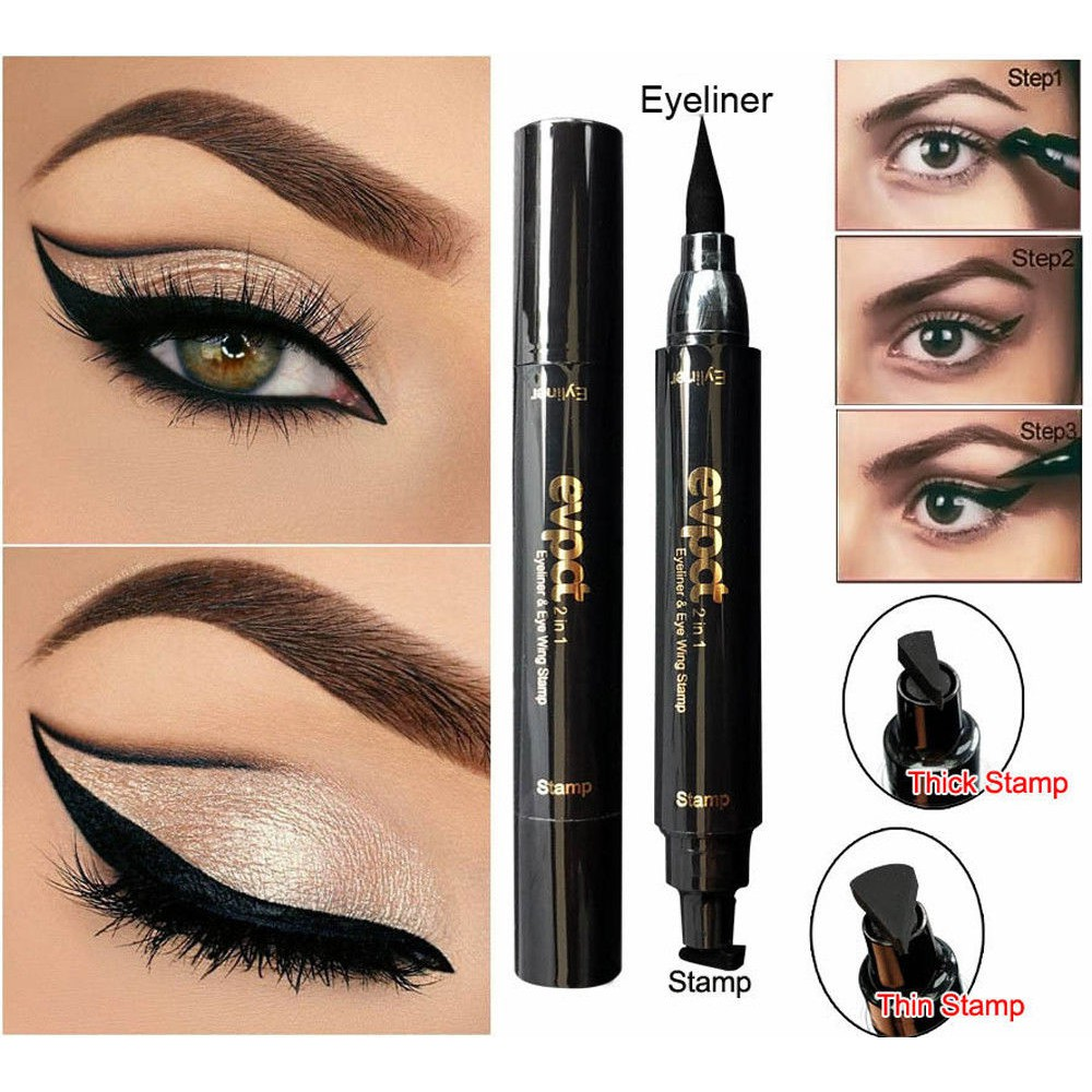 Back To Search Resultsbeauty & Health Sexy Double Head Black Eyeliner Wing Shape Seal Waterproof Liquid Eyeliner Pencil Cat Eye Cosmetic Tool Quick Makeup