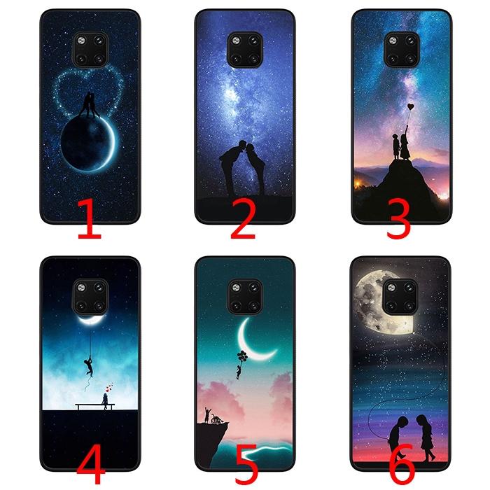 Moon couple art Wallpaper Soft Phone Case for Huawei Y9 Mate 10 20 Lite Pro  Nova 3 3i