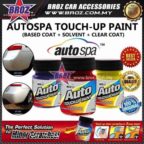 Auto Touch Up Paint >> Autospa Touch Up Paint Proton Persona 3pcs Set Base Coat Solvent
