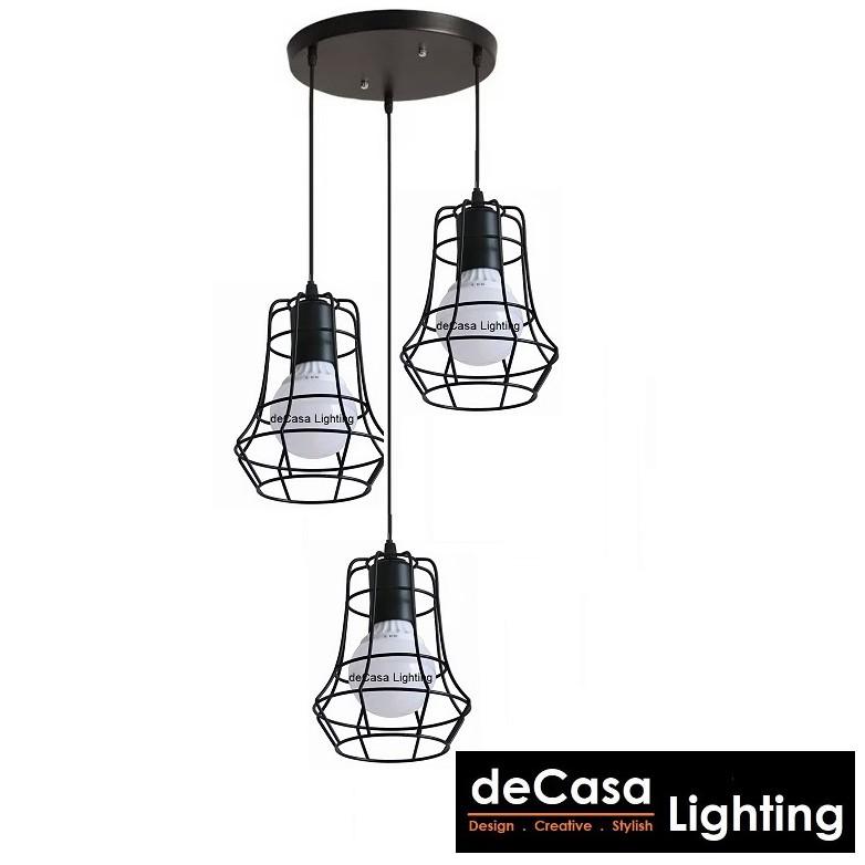 Set Of 3 With 500mm Long Base Modern Diamond Ikea Style Loft Pendant Light Decasa Lighting Lampu Gantung JL-MJ11