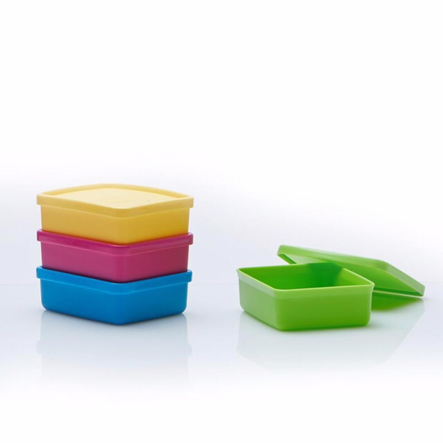 Tupperware (4 pcs) Mini Square Away 140ml
