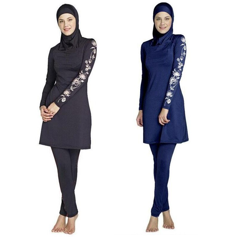 f9efd1bed7d Women Muslim Swimwear Islamic Full Cover hijab Modest Swimsuit Beachwear |  Shopee Malaysia