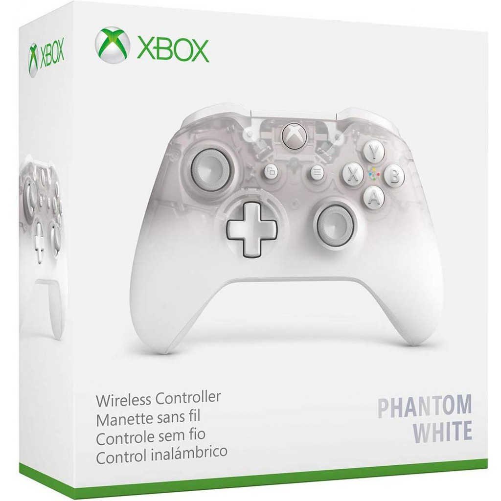 Xbox One Wireless Controller Phantom White(Asia)(Original)