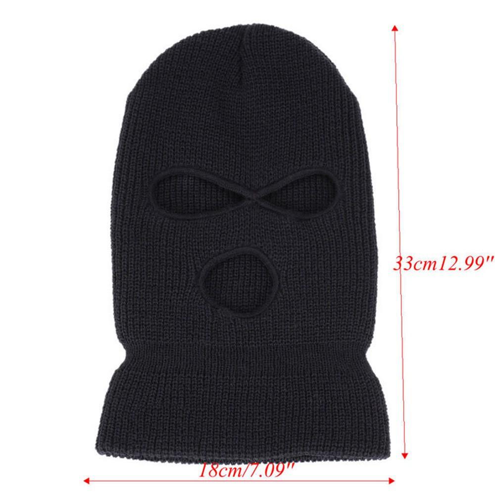 New 1PC Unisex Winter Ski Mask Beanie 3 Holes Full Face Mask Knitted Cap Hat