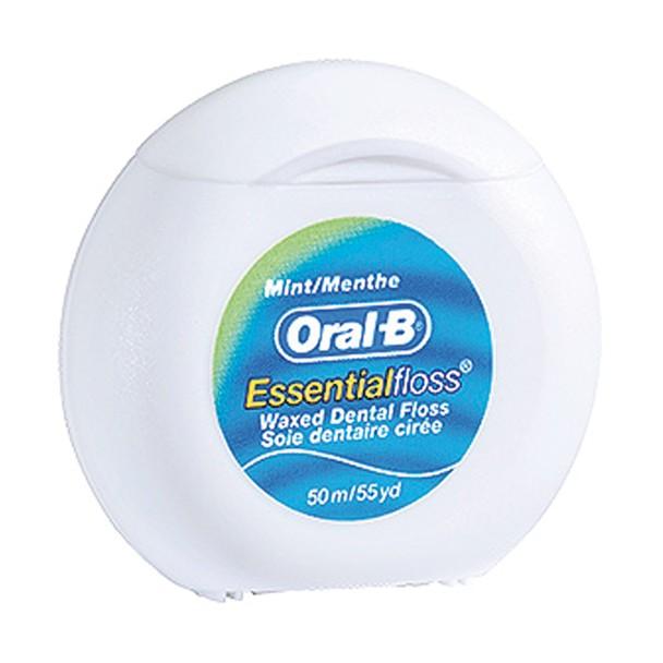 Oral-B Essential Waxed Dental Floss Mint (50m)