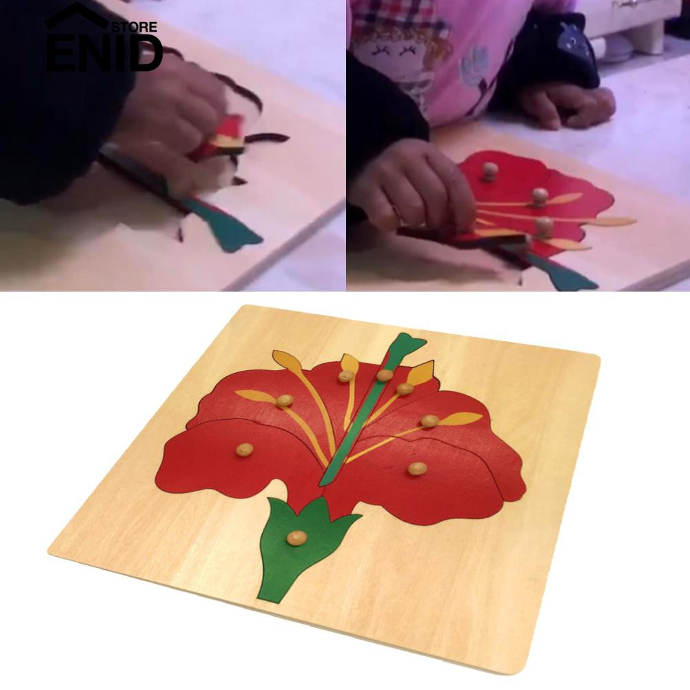 ♫♩♪Enidstore Flower Puzzle Toy Panel Jigsaw Baby Early Teaching Aid