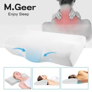 Cervical Contour Memory Foam Bed Pillow Ergonomic Orthopedic Design TN