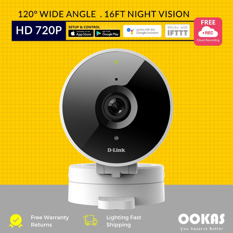D-Link 120° 720P HD WiFi Wireless Cloud Recording IP Camera DCS-8010LH CCTV