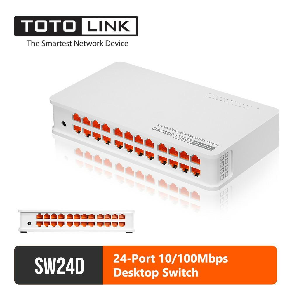 TOTOLINK SW24D 24-Port 10/100Mbps Fast Ethernet Desktop/Mounting Network Switch