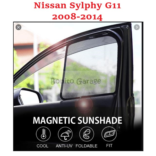 Magnetic Sunshade Nissan Sylphy G11 2008-2014 4pcs