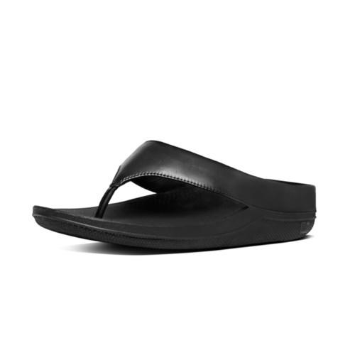 6cfbfe4432bb02 Fitflop Ringer Sequin Toe Post (Black)