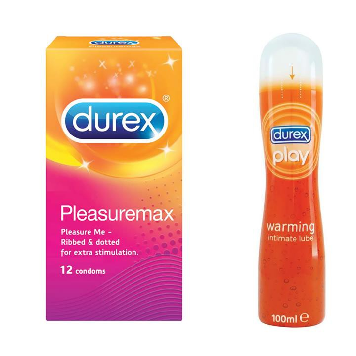 Durex Pleasuremax Condom 12s + Durex Play Warming Lube 100ml