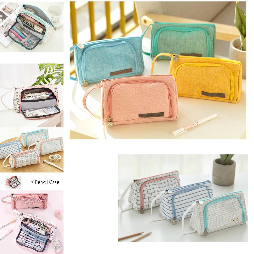 07d819990bdb Pencil_Cases Canvas Kawaii Storage Bag Pouch Stationery | Shopee ...