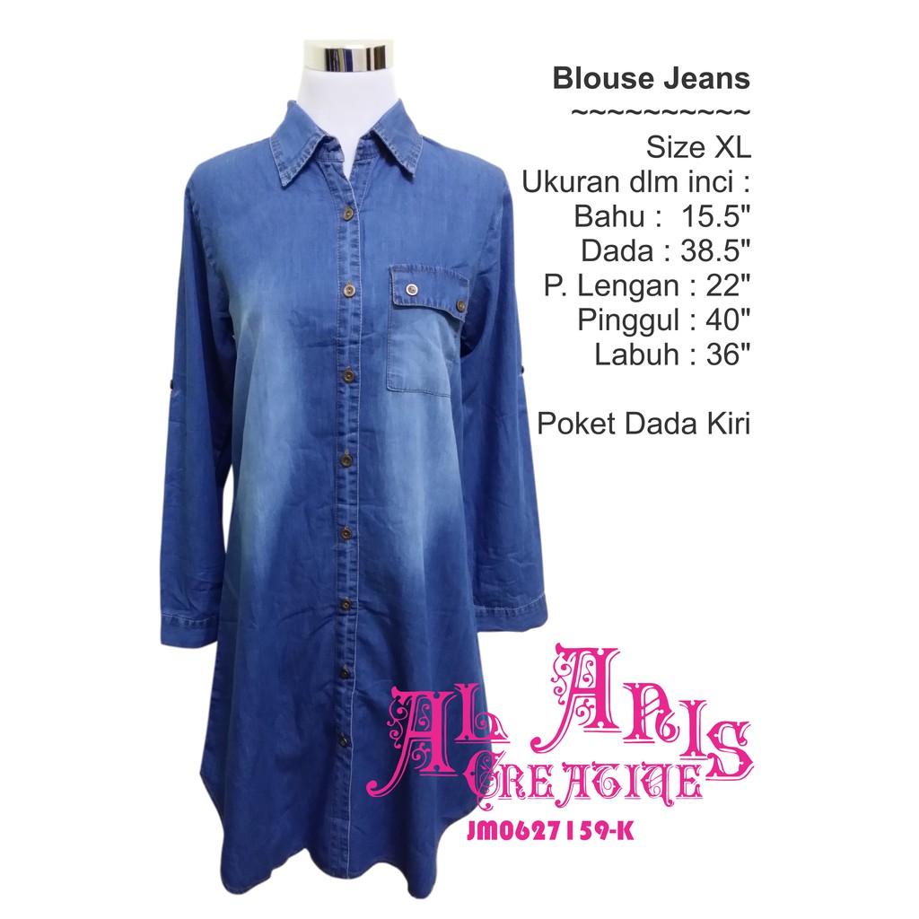 Blouse Jeans Shopee Malaysia Minimal Floral Pearls Cap Sleeve Dress Biru Xl