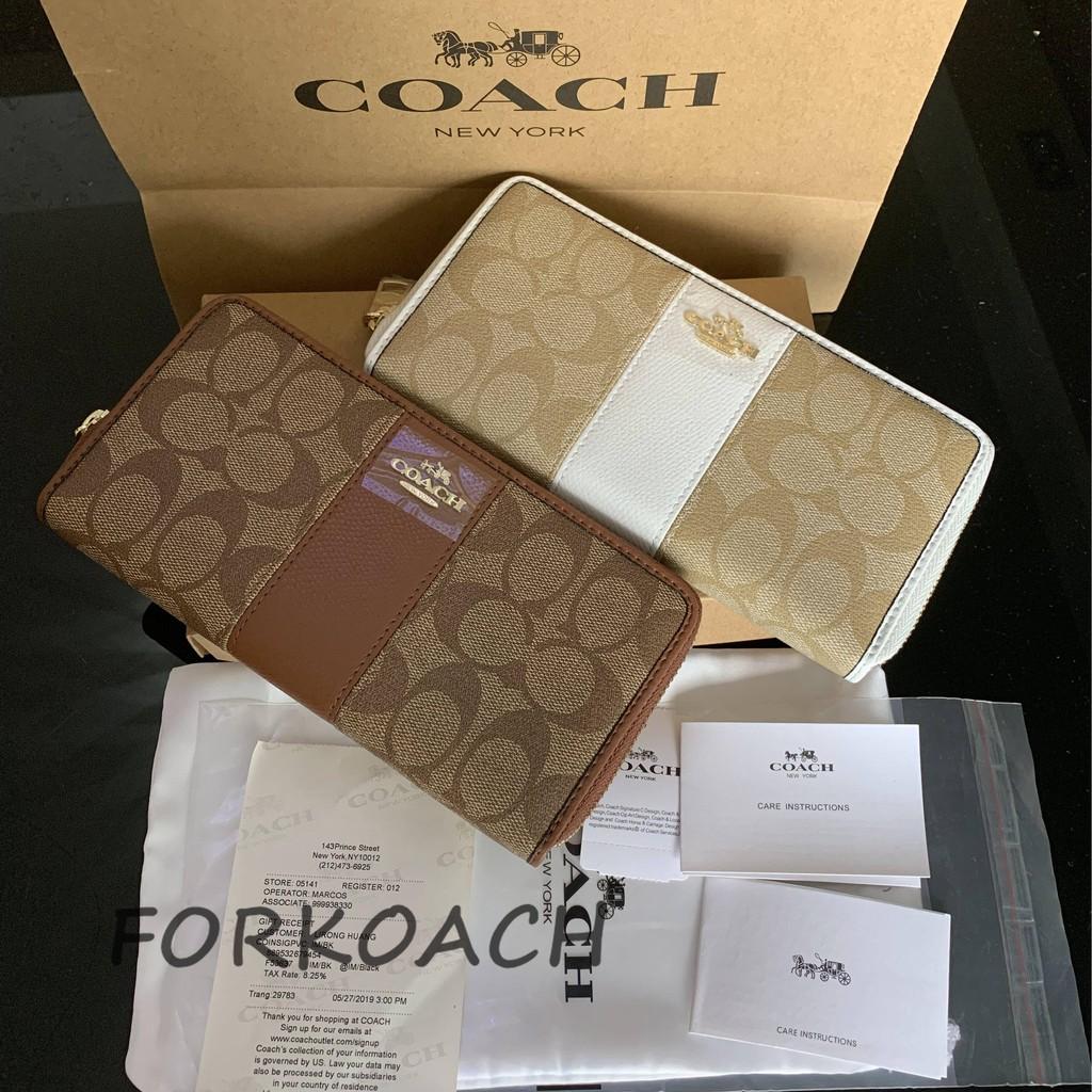 uk availability ca849 229e3 【Discount until】 Flash Sale COACH F52859 Women's wallet Long wallet Zipper  wallet + coach box