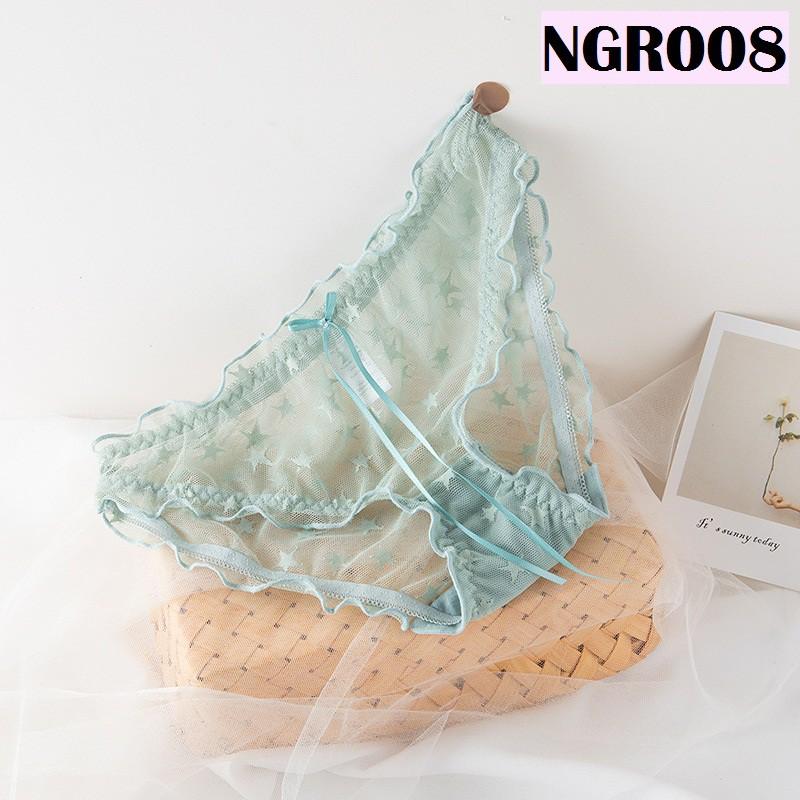 Women Underwear Ladies Panties Soft Silky Lingerie Nightwear Wanita Seluar Dalam Perempuan 性感网纱女士内裤 N008