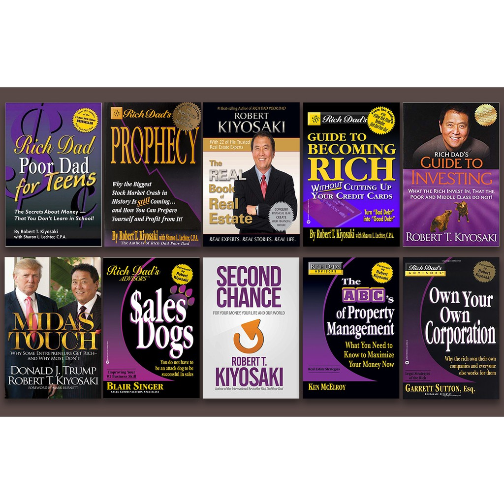 10 EBooks Bundle 02 | The Rich Dad ebook series by Robert T  Kiyosaki