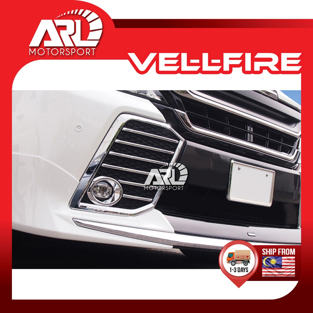 Toyota Vellfire (2015-2021) AH30 AGH30 Fog Lamp Chrome Lining Front Bumper ABS Car Auto Acccessories ARL Motorsport