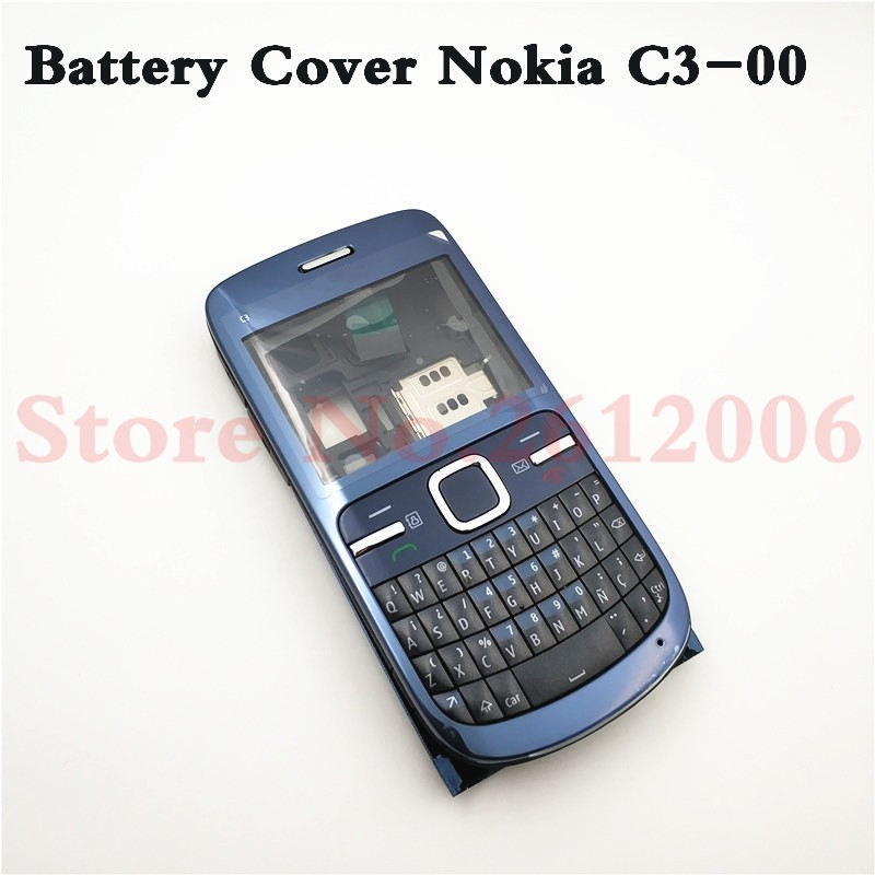 san francisco f0889 56121 Full Housing For Nokia C3 C3-00 Back Battery Case Front+Mid Frame Keypad  C3-00