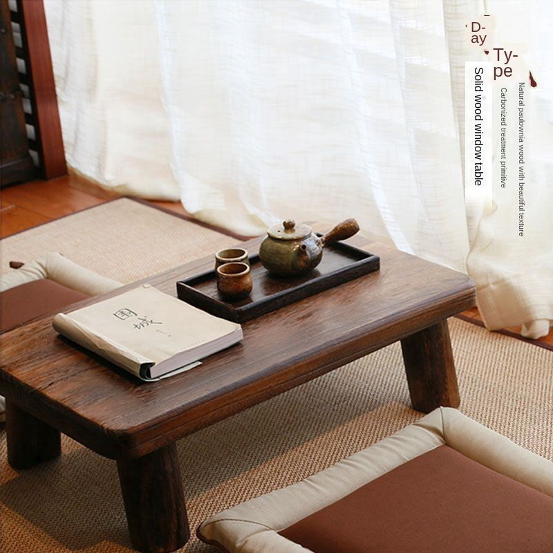Floating Window Table Small Coffee Table Simple Japanese Solid Wood Kang Table Tatami Table Low Table Tea Table Balcony Coffee Table Kang Several Shopee Malaysia