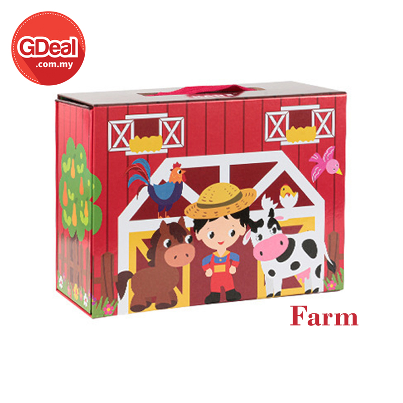 GDeal Wooden Themed Paper Box Set For Children Above 36 Months Communication Interaction Early Educational Toys