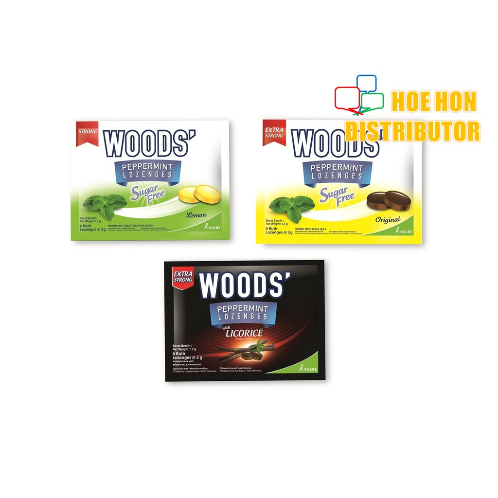 Woods Extra Strong Lozenges Sore Throat Peppermint Drops Sugar Free Golden Lozenge Sakit Tekak Shopee Malaysia
