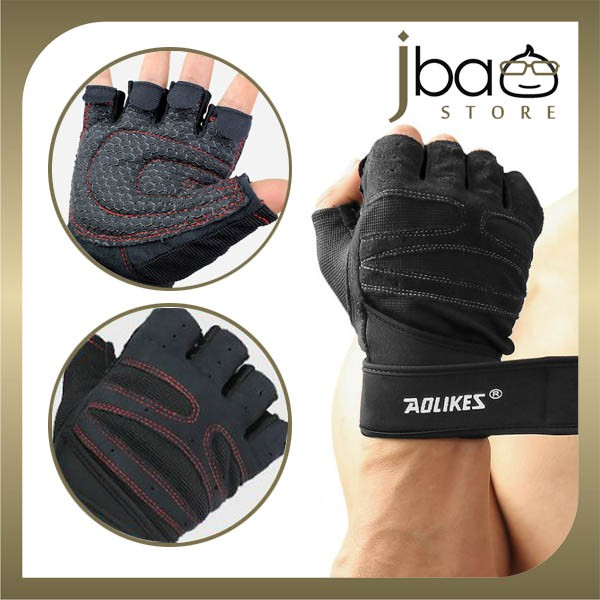 Aolikes Sport Gloves Wrist Wrap Gym Dumbbell Cycling Fitness Glove (1Pair)