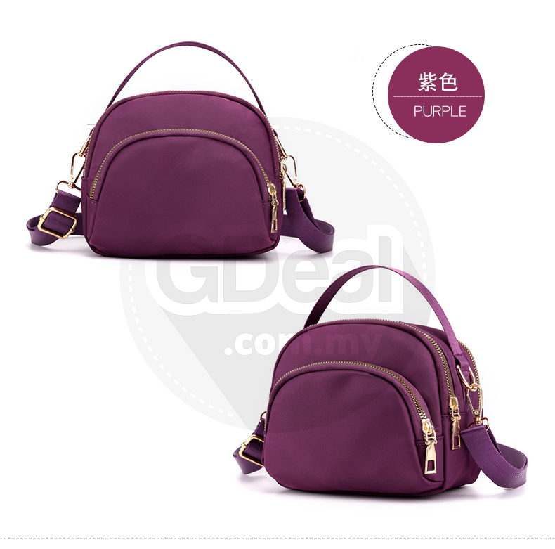 GDeal New Fashion Women Diagonal Mini Oxford Cloth Handbag Portable Messenger Canvas Bag