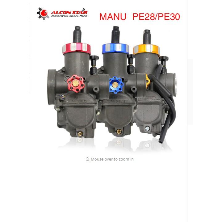 Performance Manual KEIHIN Racing Carburetor PE28 PE30 Fit Motorbike Scooter
