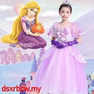 Kids Girls Sophia Princess Fairytale Cosplay Costume Cinderella Rapunzel Dress